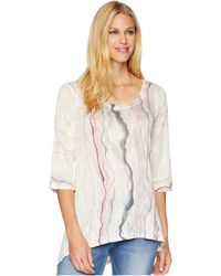 Nally & Millie - Red Marble Print Tunic (multi) Women's Blouse - Lyst