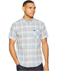 Brixton - Howl Short Sleeve Woven (light Blue/white) Men's Short Sleeve Button Up - Lyst