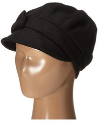 San Diego Hat Company - Sdh3404 Wool Cap With Self Fabric Bow (black) Caps 792549b0c9fa