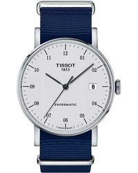 Tissot - Everytime Swissmatic - T1094071703200 (silver/dark Blue) Watches - Lyst