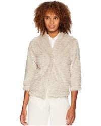 Dylan By True Grit - Lite Cashmere Soft Fur Crop Jacket (natural) Women's Coat - Lyst