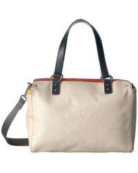 Orla Kiely - Embossed Flower Leather Small Zip Messenger - Lyst