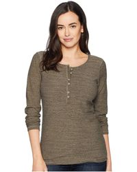 Ariat - Alpine Henley Top (major Brown) Women's Long Sleeve Pullover - Lyst
