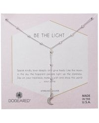 Dogeared - Be The Light, Sparkle Cresent Y-necklace - Lyst