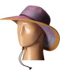 San Diego Hat Company - Mxm1022 4 Inch Brim Sun Hat With Adjustable Chin Cord (purple) Caps - Lyst