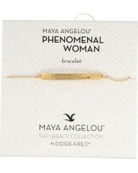 Dogeared - Phenomenal Id Bar Bracelet - Lyst