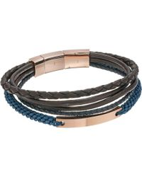 Fossil - Vintage Casual Steel Multi-strand Bracelet - Lyst