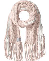 Calvin Klein - Color Block Cable Scarf (petal) Scarves - Lyst