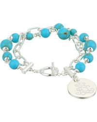 "Lauren by Ralph Lauren - Turquoise 7.75"" Toggle Bracelet - Lyst"