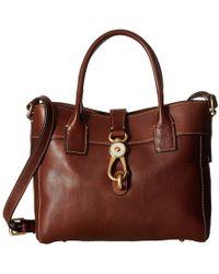 Dooney & Bourke - Florentine Classic Amelie Tote (natural/self Trim) Tote Handbags - Lyst