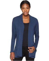 Prana - Foundation Wrap (equinox Blue Heather) Women's Sweater - Lyst