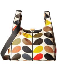 Orla Kiely - Matt Laminated Classic Multi Stem Midi Sling Bag (multi) Backpack Bags - Lyst