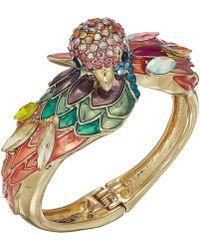 Betsey Johnson - Multicolor Parrot Statement Hinge Bracelet (multi) Bracelet - Lyst