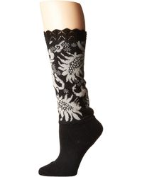 Natori   Scalloped Feathers Crew Bootie Topper   Lyst