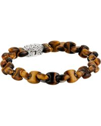 John Hardy - Classic Chain Bead Bracelet With Tiger Eye - Lyst