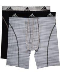 adidas - Sport Performance Climalite Graphic 2-pack Midway (white Ratio Black) Men's Underwear - Lyst