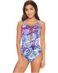 Lilly Pulitzer | Isle Lattice One-piece Swimsuit | Lyst