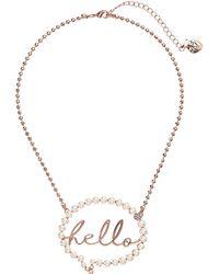 Lyst - Betsey Johnson Hot Bubble Emoji Pendant Necklace in Gray