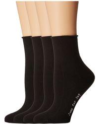 Hue - Roll Top Shortie Socks 4-pack - Lyst