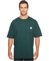 Carhartt - Workwear Pocket S/s Tee K87 (stream Blue) Men's T Shirt - Lyst