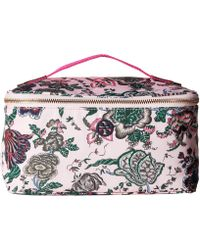 27a99f8bb543 Tory Burch - Tilda Printed Nylon Travel Cosmetic Case (pink Small Happy  Times) Cosmetic