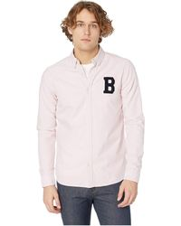 Scotch & Soda - Regular Fit Ams Blauw Oxford Shirt With Badge (maloja Pink) Men's Clothing - Lyst