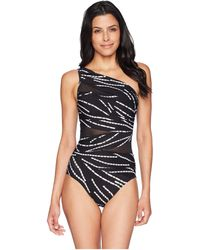 Miraclesuit - Chain Reaction Jena One-piece (black/white) Women's Swimsuits One Piece - Lyst