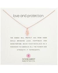 Dogeared - Love And Protection, Heart Hamsa Necklace - Lyst