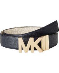MICHAEL Michael Kors - 38mm Reversible Pebble To Logo Belt On Mk Plaque Buckle - Lyst