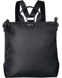 031ecb6c76b6 Calvin Klein - Lane Nylon Backpack (black silver) Backpack Bags - Lyst