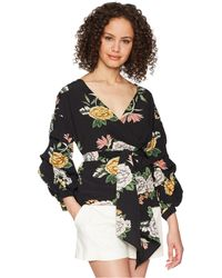 Bishop + Young - Enchanted Garden Wrap Blouse - Lyst