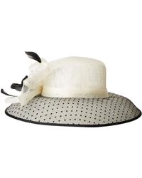 8db2aae8a8120 San Diego Hat Company Drs1010 Derby Round Crown Hat With Organza Oversized  Bow in Blue - Lyst
