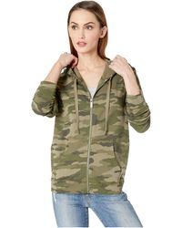 Two By Vince Camuto - Avenue Camo Zip-up Hoodie (winter Olive) Women's Sweatshirt - Lyst