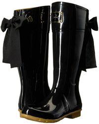 Joules - Evedon Tall Boot (black Rubber) Women's Rain Boots - Lyst