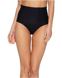Trina Turk - Key Solids Shirred High Waist Hipster Bikini Bottom (black) Women's Swimwear - Lyst