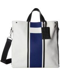 Bottega Veneta - Canvas Lines Tote Bag - Lyst