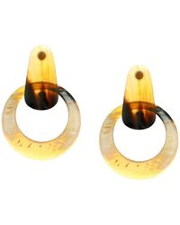 Kenneth Jay Lane - 2.5 Horn Doorknocker Post Earrings (horn) Earring - Lyst