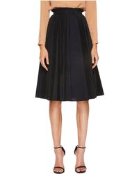 Jil Sander Navy - Plisse Poplin Pleated Skirt - Lyst