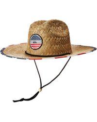 e0b61142d9ca6 Quiksilver - Pierside Straw Hat (bright Cobalt) Safari Hats - Lyst