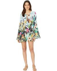 052ae224ea Nanette Lepore - Bloom Botanical Tunic Cover-up (multicolored) Women s  Swimwear - Lyst