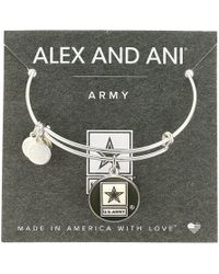 ALEX AND ANI - Us Army (shiny Silver) Bracelet - Lyst
