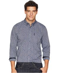 Ben Sherman - Long Sleeve Clock Time Print Shirt (blue) Men's Clothing - Lyst
