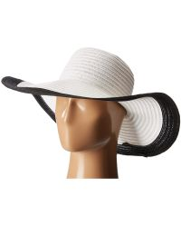 757be34d San Diego Hat Company Rbm5563 Bucket Ribbon Hat With Crochet Hemp Edging ( black) Traditional Hats in Black - Lyst