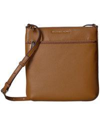 MICHAEL Michael Kors - Riley Small Flat Crossbody (acorn) Cross Body Handbags - Lyst