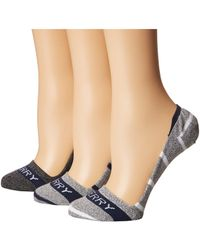 Sperry Top-Sider - Marl Signature Invisible Liners 3-pack (white Marl Assorted) Women's No Show Socks Shoes - Lyst