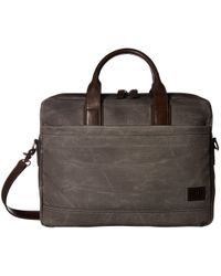 Frye - Carter Brief (slate Canvas) Briefcase Bags - Lyst