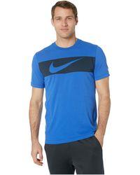 los angeles 2568c 7d257 Nike - Dry Tee Dri-fittm Cotton Swoosh Bar (black white) Men s