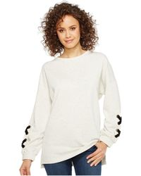 Culture Phit - Thea Sweatshirt With Lace-up Sleeve Detail - Lyst