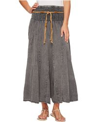 Scully - Cantina Gar-ye Skirt W/ Belt (dark Blue) Women's Skirt - Lyst