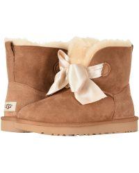 1c10b3366f34 UGG - Gita Bow Mini Boot (chestnut) Women s Pull-on Boots - Lyst
